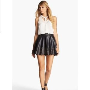 ASTR Faux Leather Mini Skirt